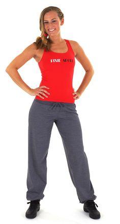 Red Sporttop with BlackJeans Joggingpants - PIXIE.NL