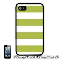 Lime Green Cabana Stripes iPhone 5 Case Pattern Slim Design Cover Skin Shell Back  $12
