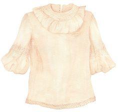 anja louise verdugo ~ vintage blouse drawing