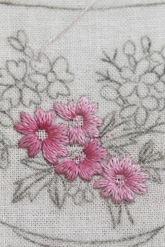 -3월의 꽃 자수 달력 수 놓기- 오늘 서울은 봄비가 오네요.아직 늦겨울이지만, 남쪽에는 매화꽃이 활짝 피...