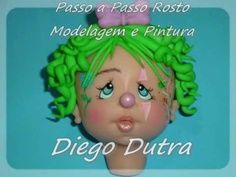 Diego Dutra - Modelagem de Rosto e Pintura em Biscuit fimo or clay or fondant gumpaste face doll head person character figure