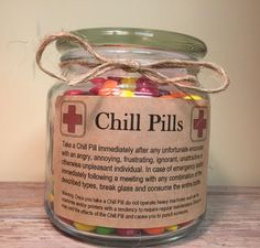 Chill Pill Apothecary Jar for PROFESSIONALS 16oz by scripturegifts