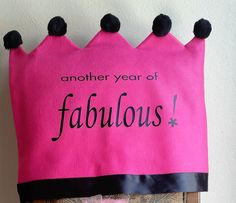 Birthday Chair Cover... Another Year of by joyfulldelights on Etsy