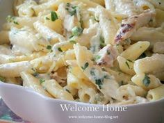 Welcome Home: Four Cheese Penne with Grilled Chicken