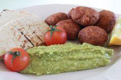 Φαλάφελ με χούμους αρακά Falafel, Baked Potato, Potatoes, Baking, Ethnic Recipes, Food, Potato, Bakken, Essen