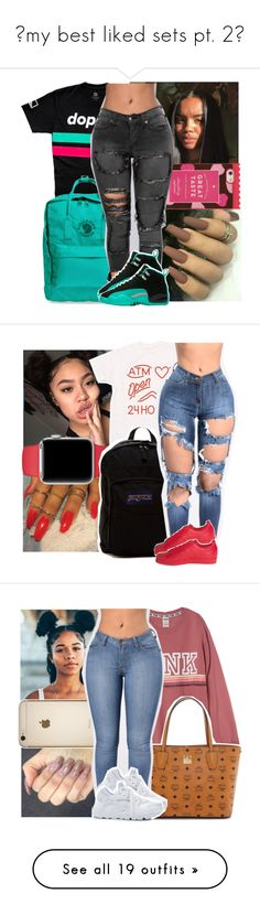 """""""💕my best liked sets pt. 2💕"""" by geazybxtch24 ❤ liked on Polyvore featuring Fjällräven, Kate Spade, JanSport, adidas, MCM, NIKE, Junk Food Clothing, Gucci, T By Alexander Wang and Zalando"""