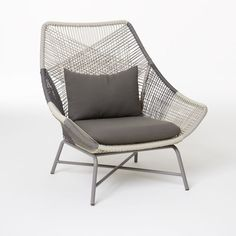 Huron Large Lounge Chair + Cushion – Gray… by West Elm Concrete Outdoor Dining Table, Modern Outdoor Chairs, Outdoor Lounge Chair Cushions, Outdoor Furniture, Lounge Chairs, Desk Chairs, Cafe Chairs, Beach Chairs, Room Chairs