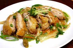 ■鶏肉レシピ■ 水郷どりのチキンソテー(柚子胡椒餡かけ)