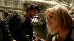 Bellamy is smiling. Clarke is smiling.