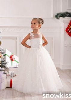 Brillante brillo del vestido de bola vestidos floristas lentejuelas blings con cuentas de encaje santa primera comunión vestido para la boda