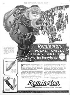 1924 ad for Remington pocket knives. The Saturday Evening Post