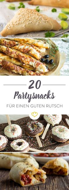 20 recipes for the New Year& Eve party- Fingerfood deluxe! 20 Rezepte für die Silvesterparty On New Year& Eve we invite all our joy to a big break or a cozy evening. On the buffet – 20 refined party recipes. Party Finger Foods, Snacks Für Party, Brunch Recipes, Snack Recipes, Party Recipes, Holiday Recipes, Good Food, Yummy Food, Party Buffet