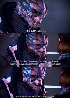 Mass Effect : GIF : Garrus Vakarian : Arch-Angel : royal-tarts