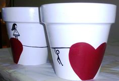 Maceta Pintada A Mano - Decorada Nº12 El Par $ 95 - $ 95,00 en MercadoLibre Ceramic Pots, Terracotta Pots, Clay Pots, Flower Pot Art, Flower Pot Design, Painted Plant Pots, Painted Flower Pots, Pottery Painting, Ceramic Painting