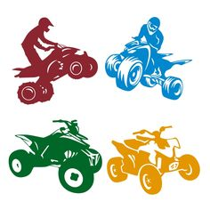 ATV Cuttable Design Cut File. Vector, Clipart, Digital Scrapbooking Download, Available in JPEG, PDF, EPS, DXF and SVG. Works with Cricut, Design Space, Cuts A Lot, Make the Cut!, Inkscape, CorelDraw, Adobe Illustrator, Silhouette Cameo, Brother ScanNCut and other software.