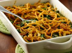 Green Bean Casserole with Fried Onions (Gluten Free)
