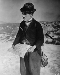 Charlie Chaplin in The Gold Rush.