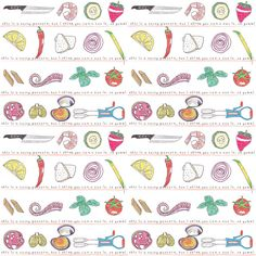 A tasty pattern by Sara Gorini #food #foodporn #pattern #foodpattern #illustration