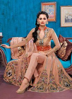 Pretty Peach #Anarkali #Suit