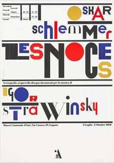 "Bruno Monguzzi, Museo d'Arte Lugano: Oskar Schlemmer Igor Strawinsky ""Les Noces"", 1988"
