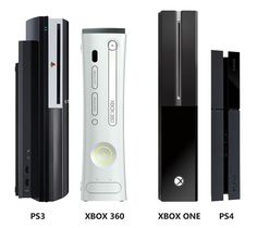 Size comparison: PS3 and Xbox 360 vs. Xbox One and PS4  I am liking he ps4 over the Xbox... And I am a ms fan boy...
