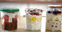 Preparado na noite anterior para potencializar a absorção de seus nutrientes, o overnight oats é uma alternativa leve para o café da manhã ou lanche