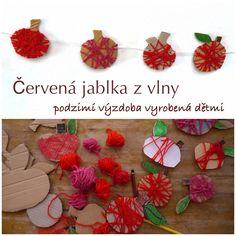 Jablka z vlny – podzimní výzdoba vyrobená dětmi
