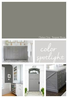 Grey Kitchen Island, Grey Kitchen Cabinets, Kitchen Floors, Kitchen Redo, Design Kitchen, Kitchen Ideas, Nest Design, Exterior Paint Colors For House, Paint Colors For Home