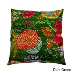 Ethnic Kantha Work Pillow Cover (India)   Overstock.com