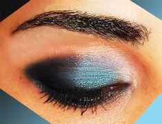 Maquillaje de ojos paso a paso en color verde azulado, aguamarina... http://www.ideasdemaquillaje.com/maquillaje-de-fiesta-aguamarina/