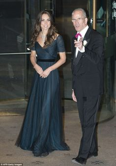 Favourite designer: The last time Kate wore a Jenny Packham creation at a black tie gala at the National Portrait Gallery in February