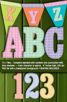 Country Gingham and Stitches Alphabet {FREE}