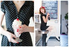 50s style diner shoot, so cute