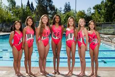 Cute synchronized swimming suits