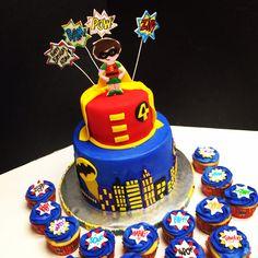 Robin themed cake (Batman)