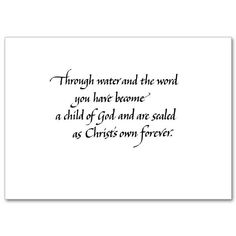 congratulations on your baptism cards words to live by pinterest