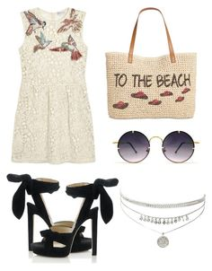 """""""Untitled #1535"""" by filipaloves ❤ liked on Polyvore featuring Style & Co., RED Valentino, Spitfire and Jimmy Choo"""