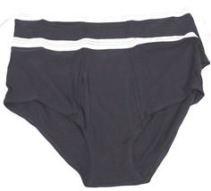 Harbor Bay Underwear Lot of 2 Black Briefs Size 4XL New Without Package Cotton #HarborBay #Brief