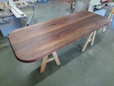 Walnut Island top in production ready for Britian's Best Home Cook TV Show Walnut Worktops, Wide Plank, Work Tops, Hardwood, Dining Table, Cook, Island, Tv, Furniture