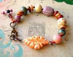 Sj Designs Jewelry: Art Bead Scene Challenge: October 2014 featuring ceramic beads by Gaea