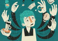 Editorial Illustrations by Joe McLean | Inspiration Grid | Design Inspiration