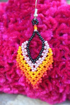Boucles d'oreilles huichol bijoux huichol boucles | Etsy