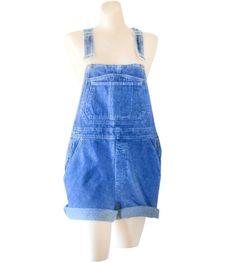Women Denim Overall Shorts Denim Shortall by #SecondhandObsessionVintage