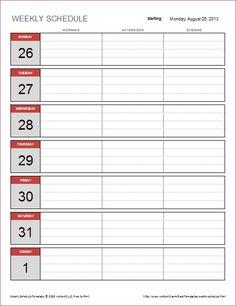 free monthly work schedule template download simplified biweekly