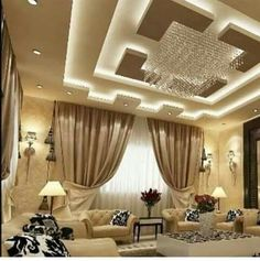 Living Room Ceiling Design Mesmerizing Contemporary Pop False Ceiling Design With Led Lights For Living Inspiration Design