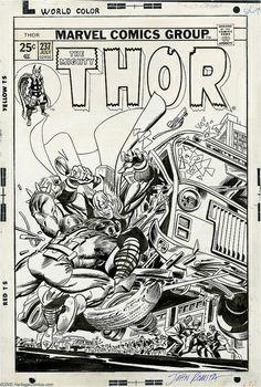 Todos os tamanhos   Gil Kane and John Romita Sr. - Thor #237 Cover Original Art (Marvel, 1975), via Flickr.