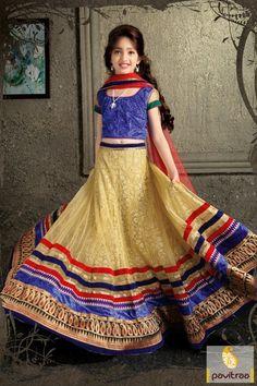 Give you little kid girl a tempting and pretty look with beige and blue net kids navratri lehenga choli. It is having charming lehenga with lace border design #kidgirllehengacholi, #babychaniyacholi, #babynavratrichaniyacholi, #babyghaghracholi, #girllehengastyle, #discountoffer, #pavitraafashion, #utsavfashion, #kidswearshopping http://www.pavitraa.in/store/kids/ callus:+91-7698234040
