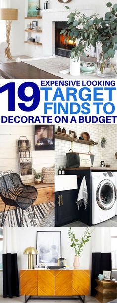 This is EXACTLY what I need - cheap Target finds that look expensive! home decor, decorate on a budget, living room ideas, laundry room ideas, bedroom ideas