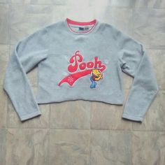 4b7da95731ad Vintage Cropped Pooh sweater Vintage Denim, Winnie The Pooh, Snowflakes,  Snow Flakes,. Depop