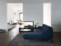 Fritz Hansen Lune Three Seater Sofa with Chaise by Jaime Hayon - Chaplins